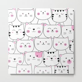 Adorable Cats 1 Metal Print
