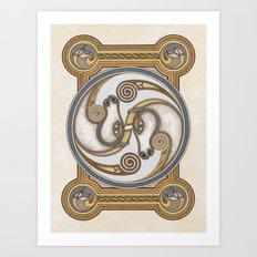 Horsehead Spiral Art Print