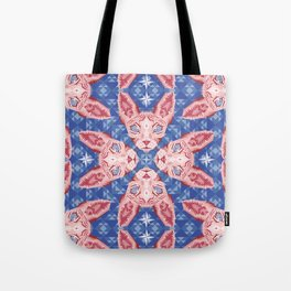 Sphynx Cat - Rose Quartz and Serenity version Tote Bag