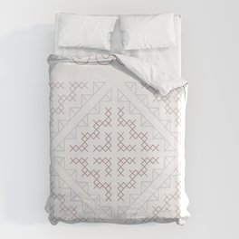 Tribal Hmong Embroidery Duvet Cover