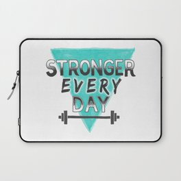 Stronger Every Day (barbell) Laptop Sleeve