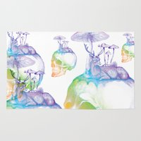 mushroom Area & Throw Rugs featuring Mushroom by dogooder