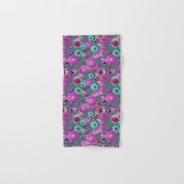 Kitschy Kitsch Jewelry  Pink and Turquoise Hand & Bath Towel