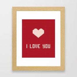I love you sweater Framed Art Print