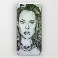 angelina jolie iPhone & iPod Skins featuring Angelina Jolie by Kat Lyon
