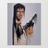 han solo Canvas Prints featuring Han Solo by Kyle Louis Fletcher