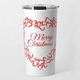 Christmas Heart Wreath Travel Mug