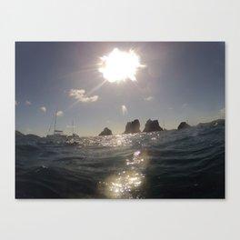 Ocean view, Indians Rock Formation, Brittish Virgin Islands Canvas Print
