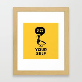 Go Duck Yourself Framed Art Print