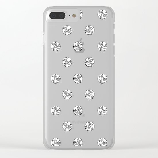 Polka like you mean it Clear iPhone Case