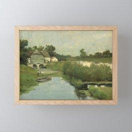Summer Day By Johan Hendrik Weissenbruch   Reproduction Framed Mini Art Print