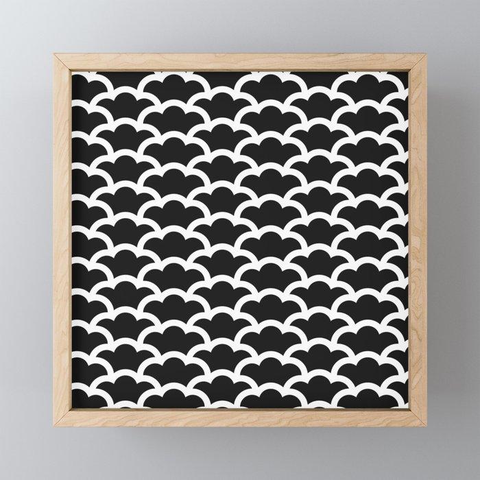 Japanese Clouds Framed Mini Art Print