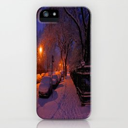 Chicago in Snow: White Drapery (Chicago Winter Collection) iPhone Case