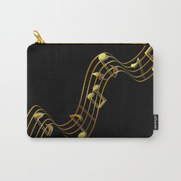 Golden Music Notes Carry-All Pouch
