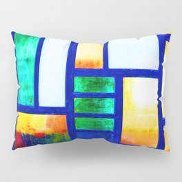 Art Deco Colorful Stained Glass Pillow Sham