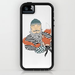 Man and fox. iPhone Case