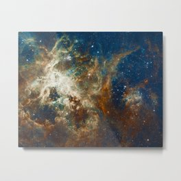 Tarantula Nebula Galaxy Space Photo Metal Print
