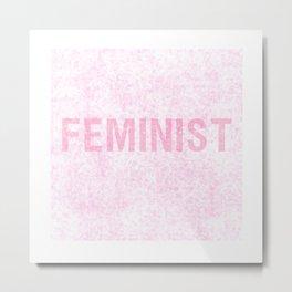 Grunge Feminist in Pink Metal Print