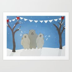 Winter Bears Art Print