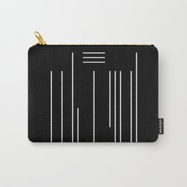 Abstract White Lines Carry-All Pouch