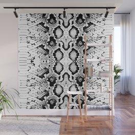Snake skin texture. black white. simple ornamen Wall Mural