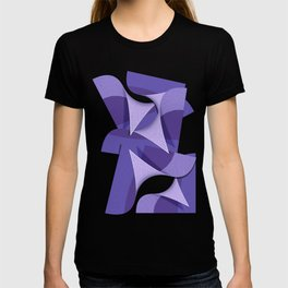 Ultra Violet Abstract Waves T-shirt