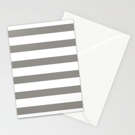 Thunder Gray Stripes on White Stationery Cards