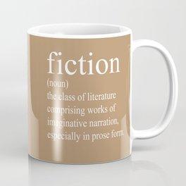 Fiction Definition (White on Tan) Coffee Mug