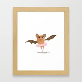 ballet bat Framed Art Print
