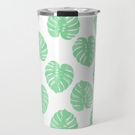 Palm Leaf indoor house plant hipster cheese plant palm leaf tropical vibes Travel Mug
