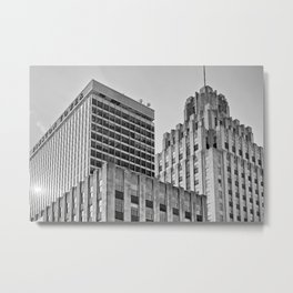 Winston Tower and Reynolds Building BW Metal Print