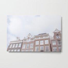 Amsterdam Facades   Architecture   The Netherlands   Travel photography print   Street Photo art Metal Print