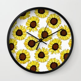 Sunflowers are the New Roses! - White Wall Clock