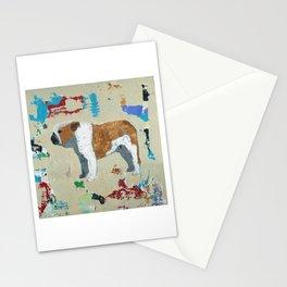 English Bulldog Abstract Art Stationery Cards