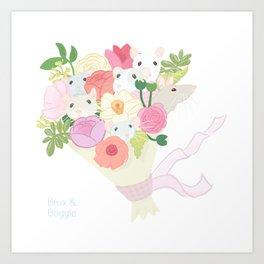 Rat Bouquet Art Print