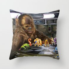Star Wars - Let the Wookiee Win Throw Pillow