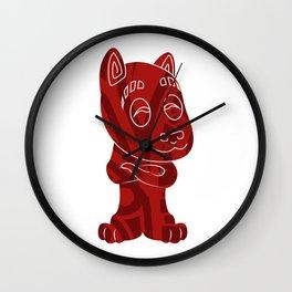Tiki Dog Wall Clock