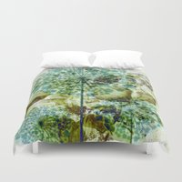 dandelion Duvet Covers featuring dandelion by clemm