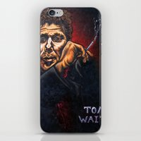 "tom waits iPhone & iPod Skins featuring ""Tom Waits"" by PMS Artwork"