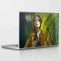mockingjay Laptop & iPad Skins featuring The Mockingjay by Paulo Fodra