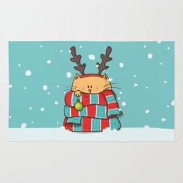 Christmas Cat Rug