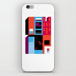 Postcards from Amsterdam / Borneo iPhone Skin
