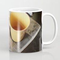 cigarettes Mugs featuring Coffee & cigarettes by Clara Blum