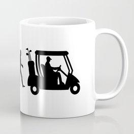 Evolution - golf  black&white Coffee Mug