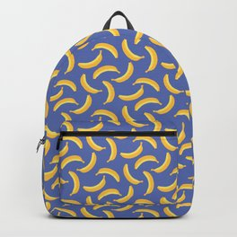 Bananas & Solid Blue Backpack