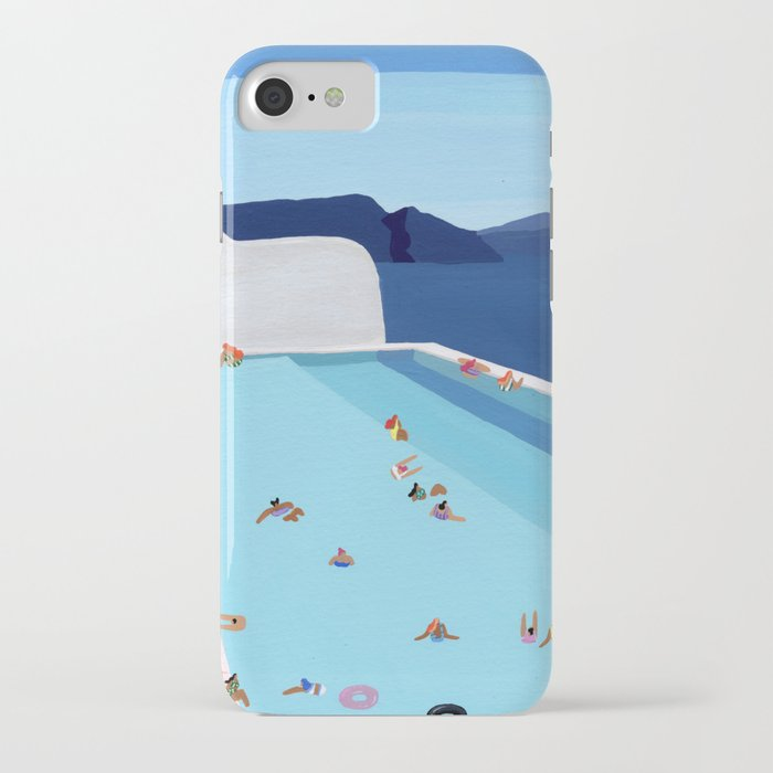 coastal pool iphone case