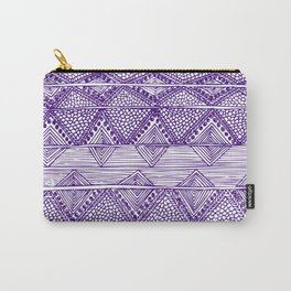 Abstract blue digitised hand drawing art Carry-All Pouch