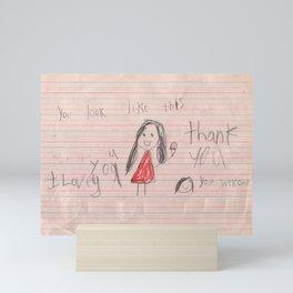 I Love You, Thank You Mini Art Print