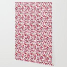 Pink Floral Pattern Wallpaper