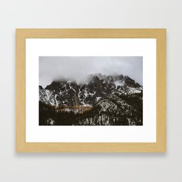 larches on the mountain Framed Art Print